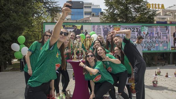 Старозагорци поздравиха баскетболистките на Берое за шампионската титла