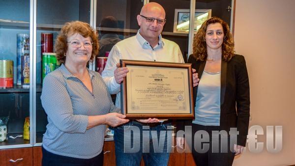 Ате Пласт  получи сертификат за  Инвеститор клас А