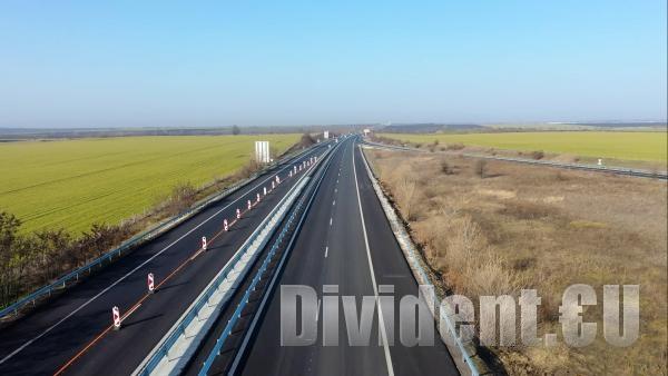 Пускат още 6 километра от ремонтираната отсечка на АМ Тракия край Чирпан
